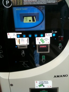 Parking garage machine, Mt Auburn Hospital, Cambridge MA