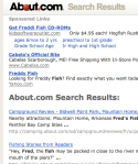Search results from About.com with Sponsored Links shown first