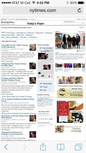New York Times.com - Today's paper - iPhone