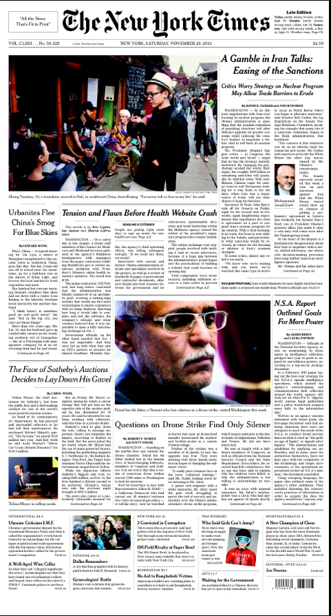 Front Pagenew York Times Design Of: News: In Print, On The Web, On A Mobile Device